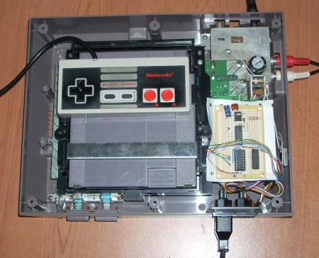 Finished board inside the NES (click to zoom)